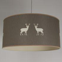 Lampe suspension / classique / en tissu / fait main