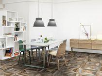 Carrelage à effet bois / pour sol / en céramique / motif géométrique