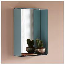 Miroir mural / contemporain / rectangulaire / avec étagère