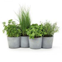 Pot de jardin en béton / conique