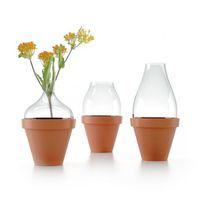 Vase contemporain / en verre / en terre cuite