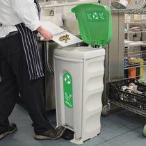 Poubelle conteneur / en plastique recyclé / de tri sélectif / professionnelle