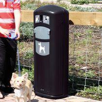 Distributeur de sacs pour excréments canins avec poubelle intégrée