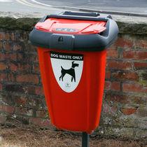 Poubelle publique / murale / en plastique recyclé / pour excréments canins