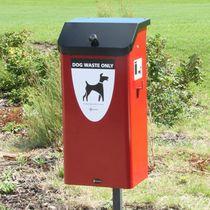 Poubelle publique / en acier / pour excréments canins / contemporaine
