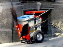 Chariot poubelle / en acier / en plastique / professionnel