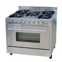 Cuisinière à gaz / avec gril / en fonte
