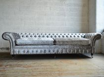 Canapé chesterfield / en velours / 4 places / 5 places