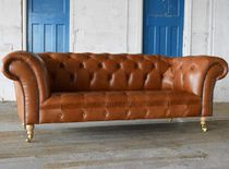 Canapé chesterfield / en cuir / 2 places / 3 places