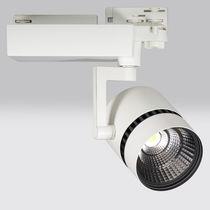 Éclairage sur rail à LED / circulaire / en aluminium / pour musée