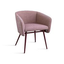Chaise contemporaine / avec accoudoirs / tapissée / en hêtre