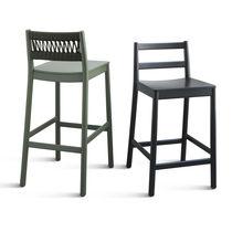 Chaise contemporaine / en tissu / en hêtre / en contreplaqué