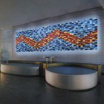 Panneau décoratif en verre de Murano / mural / rétroéclairé / aspect mosaïque