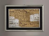 Panneau décoratif en verre de Murano / mural / 3D