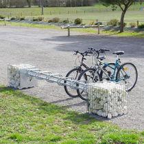 Gabion pour agencement extérieur / en acier galvanisé / avec range-vélo intégré
