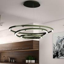 Lustre contemporain / en métal / en polycarbonate / à LED