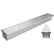 Caniveau de sol / en acier inox / en acier galvanisé / avec grille
