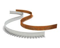 Bordure de jardin / en aluminium / linéaire / courbée