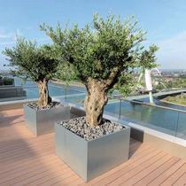 Jardinière en acier inoxydable / en acier galvanisé / carrée / sur mesure