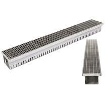 Caniveau de sol / en inox / avec grille / sur mesure