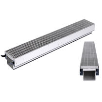 Caniveau de sol / en inox / en acier galvanisé / avec grille