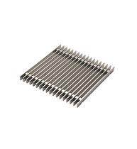 Siphon de sol en acier inox / carré / de terrasse / avec grille