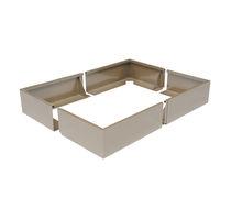 Jardinière en aluminium / rectangulaire / contemporaine