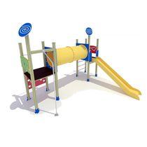 Structure de jeu en HDPE / en bois / en métal / pour aire de jeux