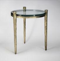 Table d'appoint classique / en verre / en fer / en fer forgé