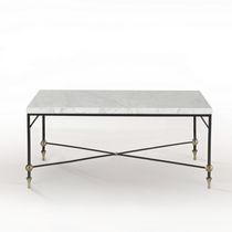 Table basse classique / en verre / en laiton / en fer