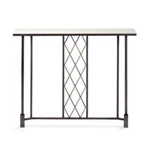 Table console / classique / en verre / en fer