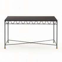 Table console / classique / en verre / en laiton