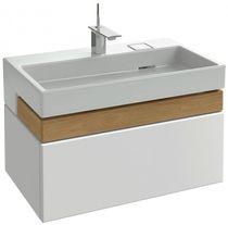 Meuble vasque suspendu / en bois massif / contemporain / avec tiroirs