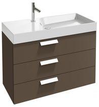 Meuble vasque suspendu / en bois / contemporain / avec tiroirs