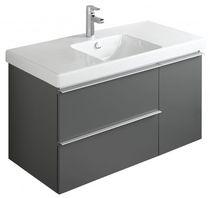 Meuble vasque suspendu / en mélaminé / contemporain / avec tiroirs