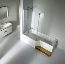 Baignoire douche encastrable / autre formes / en acrylique