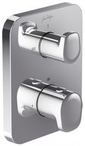 Mitigeur de douche / à encastrer / en métal chromé / thermostatique