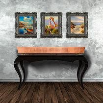 Table console / classique / en bois / en cuivre
