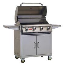 Barbecue à gaz / sur plan / en acier inoxydable