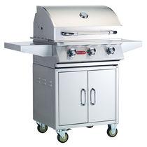 Barbecue à gaz / sur plan / en acier inoxydable / professionnel
