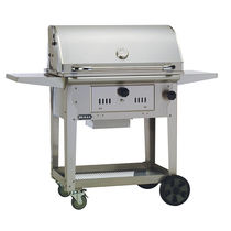 Barbecue à charbon / sur plan / en acier inoxydable / professionnel