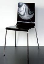 Chaise visiteur contemporaine / en acier / en polymère / avec accoudoirs