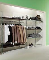 Présentoir pour vêtements / pour chaussures / en verre / professionnel
