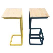 Tabouret contemporain / en bois / en acier / professionnel
