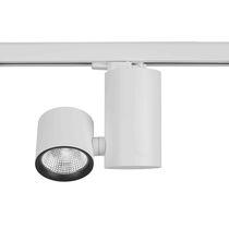 Éclairage sur rail à LED / rond / en aluminium / en acier