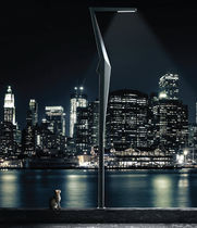 Lampadaire de jardin / contemporain / en acier / à LED