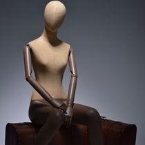 Mannequin de vitrine femme / vintage / flexible