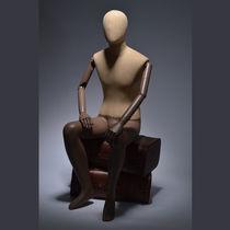 Mannequin de vitrine homme / vintage / assis
