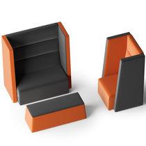Canapé contemporain / d'accueil / en tissu / en simili cuir