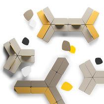 Banquette modulable / contemporaine / en tissu / en cuir